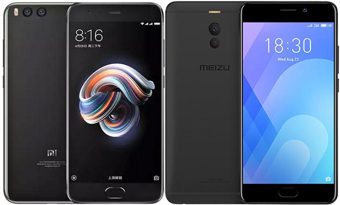 Xiaomi Mi Note 3 и Meizu M6 Note