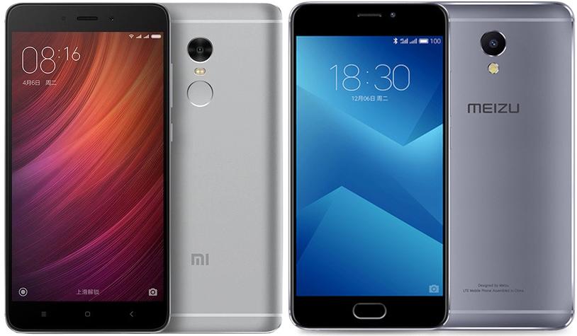 Meizu M5 Note и Xiaomi Redmi Note 4X