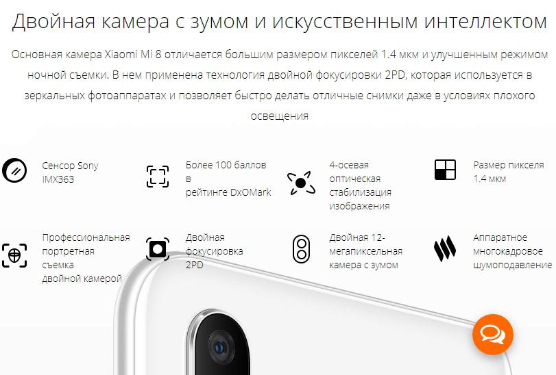 камера Xiaomi Mi 8