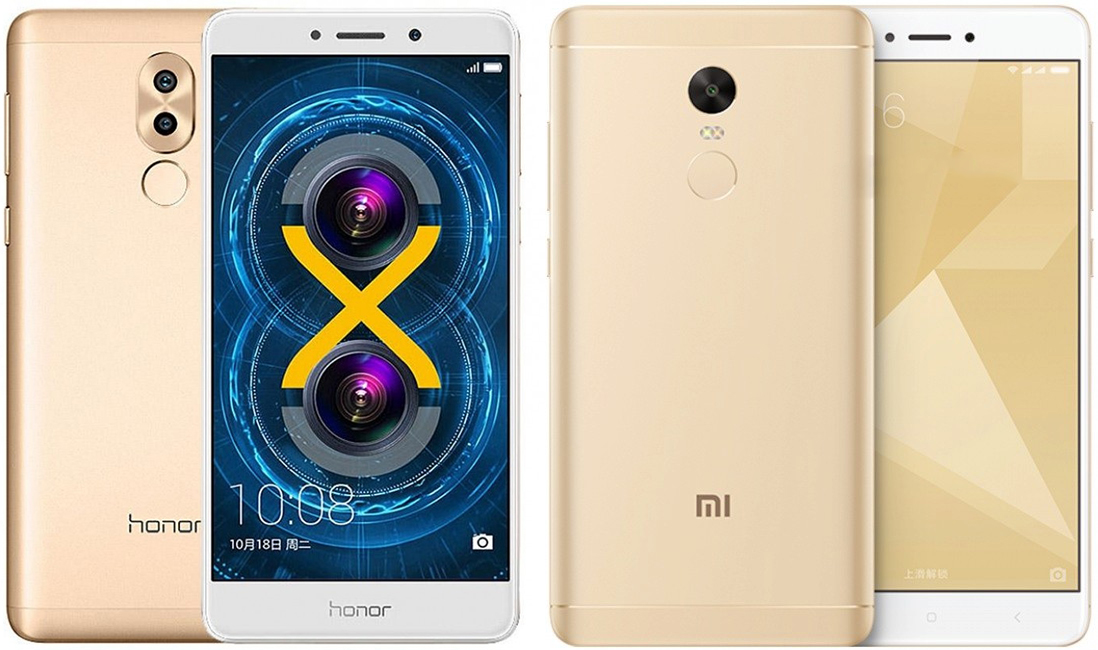 Xiaomi Redmi Note 4x и Huawei Honor 6X