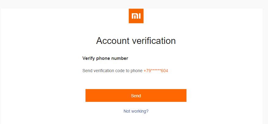 сброс кода восстановления пароля ми аккаунта