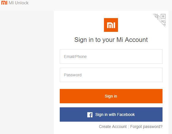 загрузка программы Mi Unlock