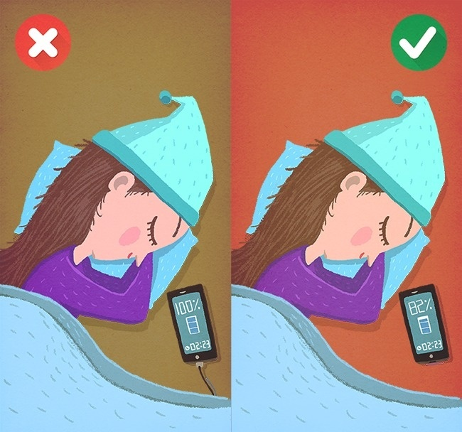 нельзя оставлять зарядку телефона на ночь