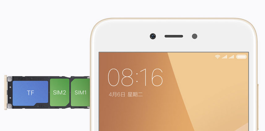 Xiaomi Note 5A - слот для сим карты