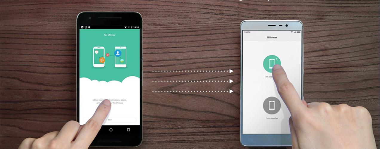 перенести данные с Xiaomi на Xiaomi