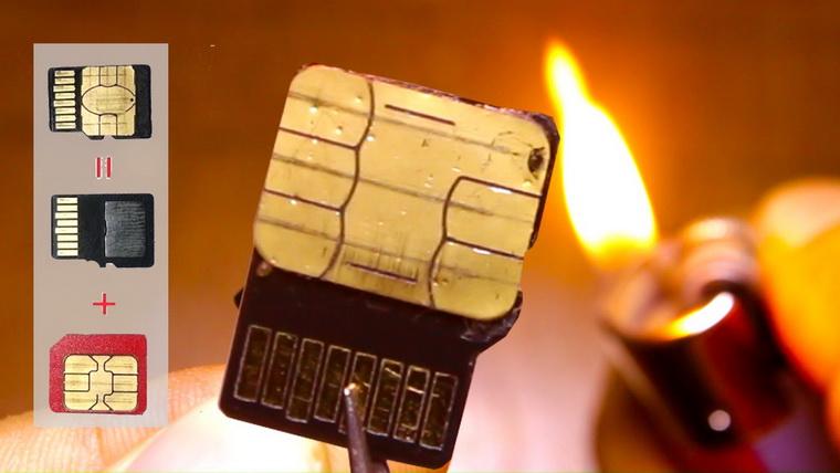 соединение SIM и microSD