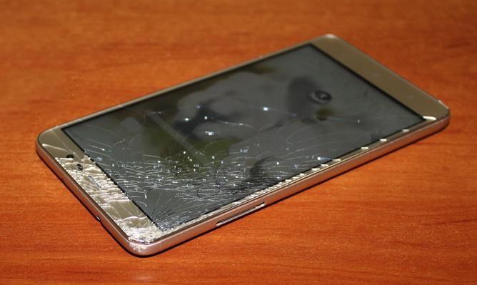 сяоми смартфон поврежден