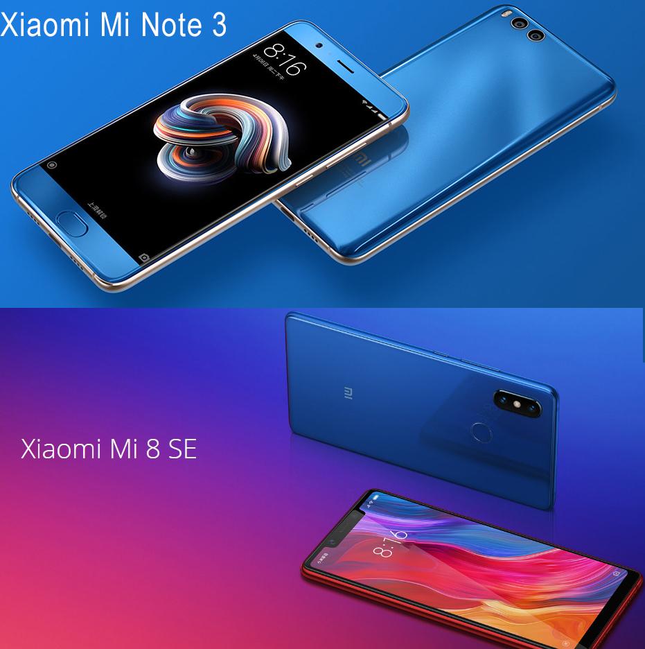 Xiaomi Mi 8SE и Xiaomi Mi Note 3