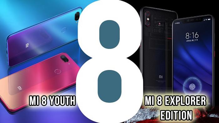 Xiaomi Mi 8 Explorer Edition, Mi 8 Youth