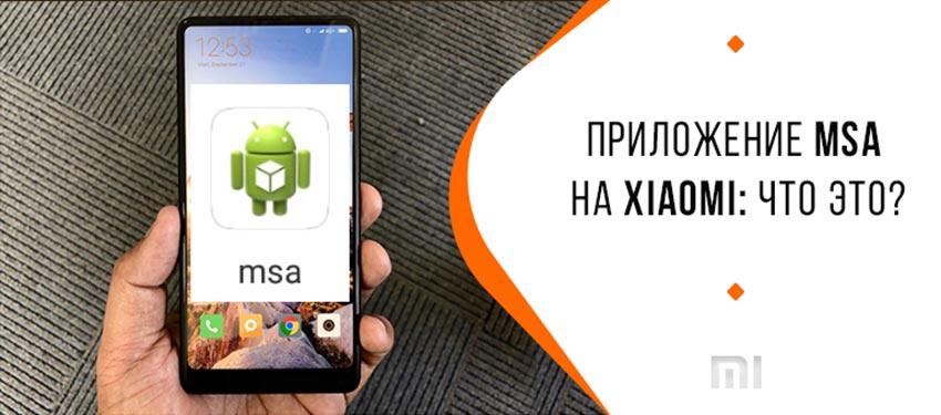 приложение MSA